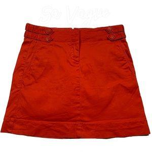 J Crew Orange Stretch Skirt Summer Spring Break